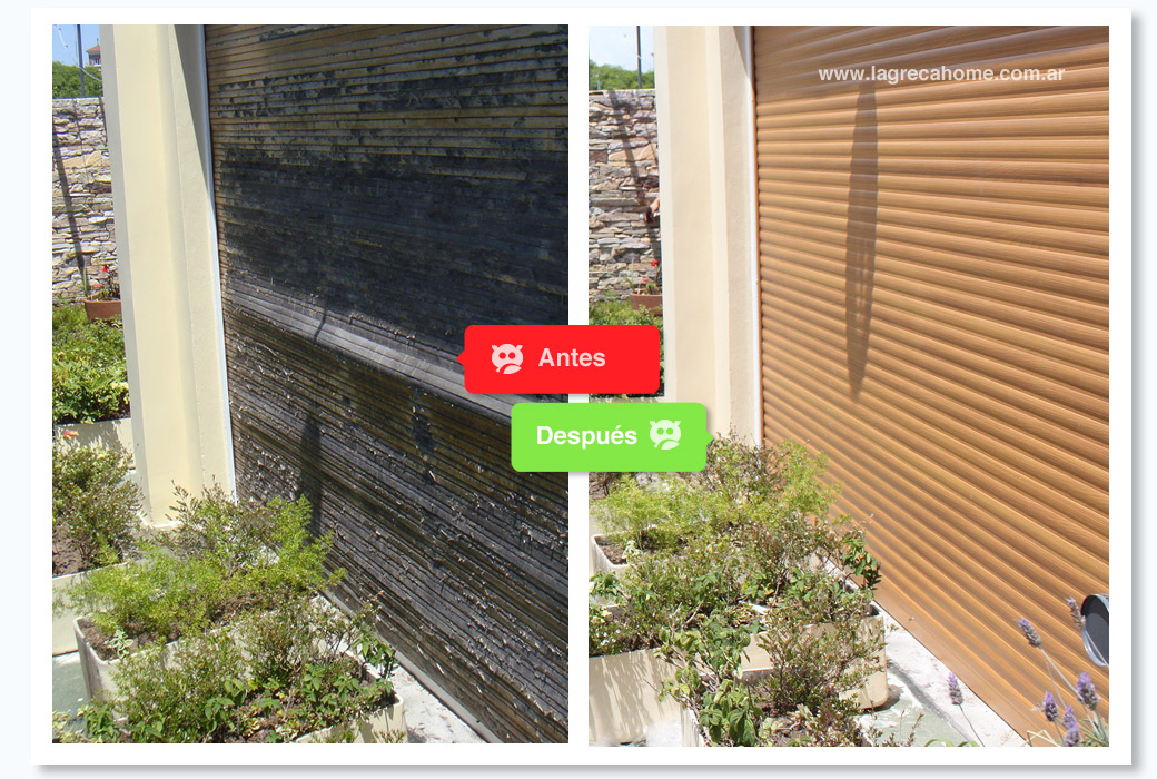 LGH / Recambio / Persiana de aluminio simil madera