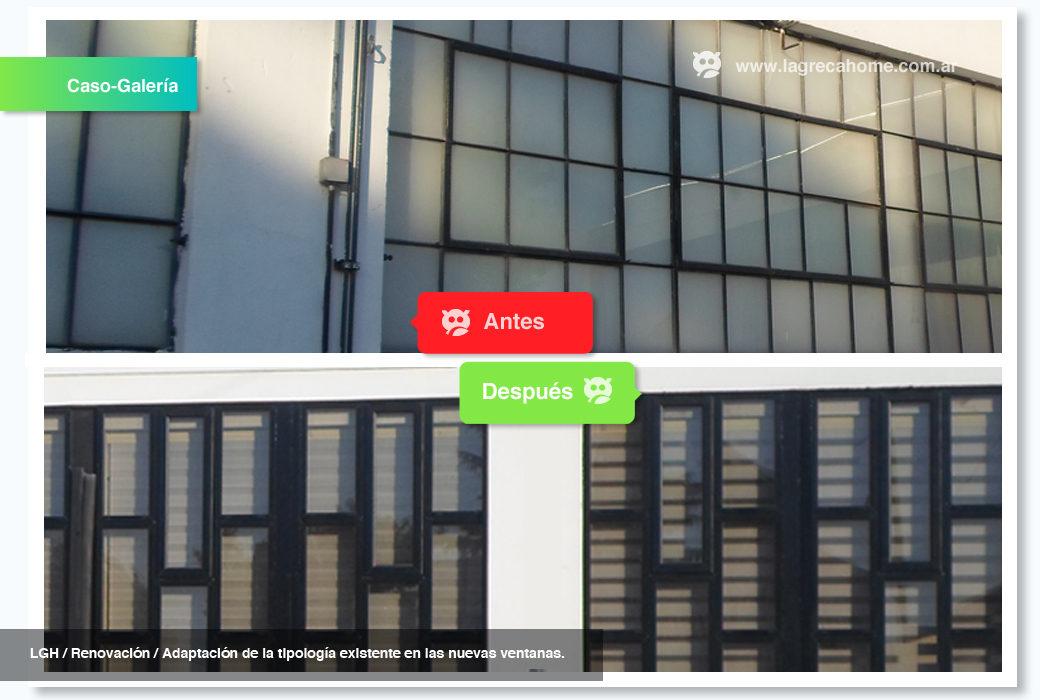 LGH / Solución Corporativa / Adaptación de la tipología existente en la nueva fachada.