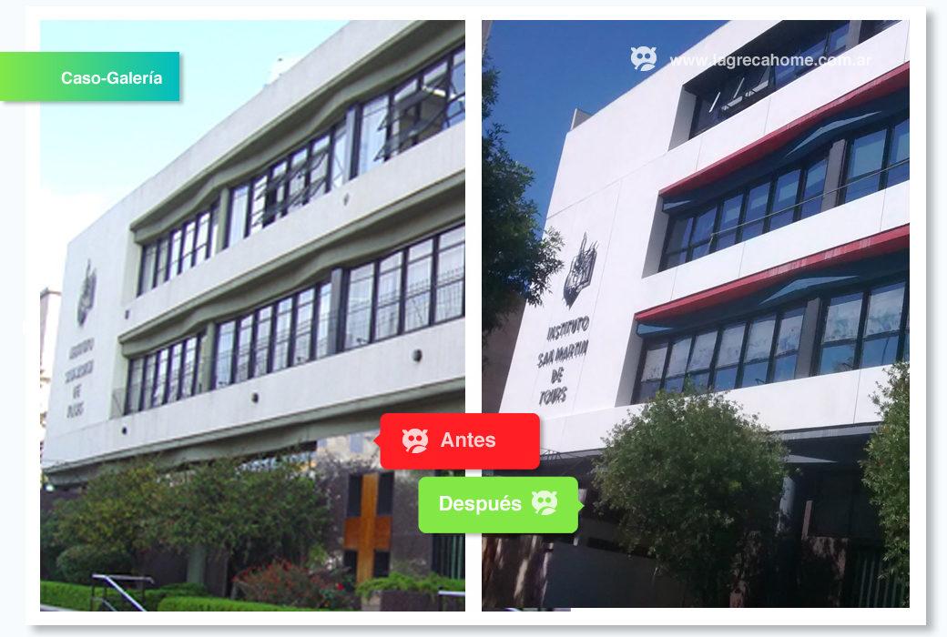 LGH / Solución Corporativa / Fachada Av. Figueroa Alcorta, totalmente renovada.